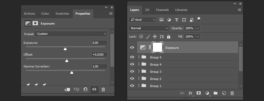 Creating adjustment layer