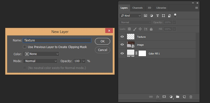 Creating texture layer