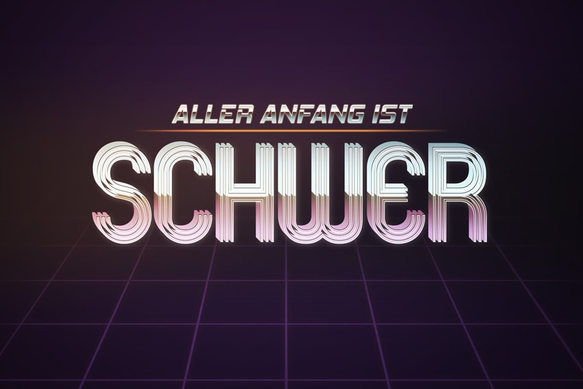 How to Create an 80s-Inspired Text Effect in Adobe Photoshop