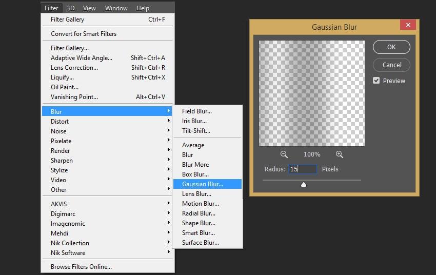 Adding gaussian blur