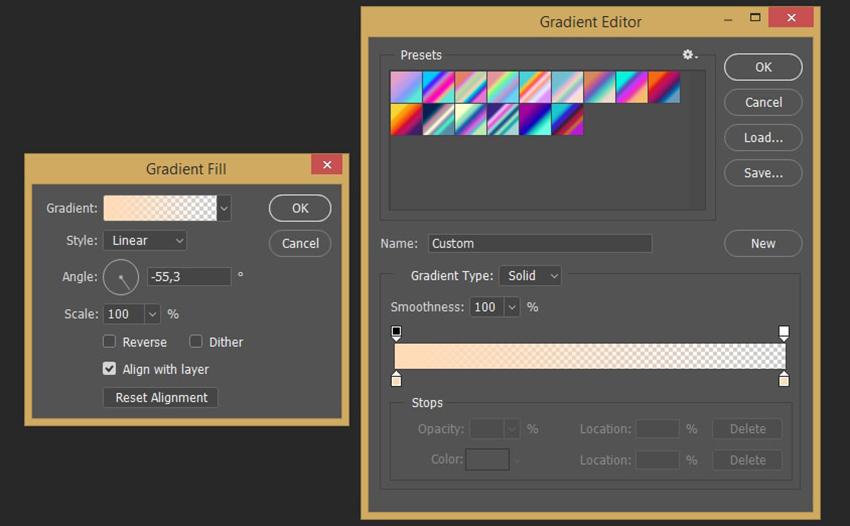 Creating gradient fill