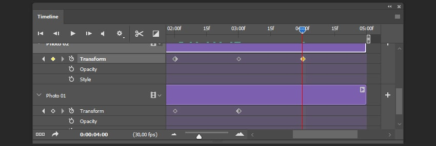 Creating the stop keyframe