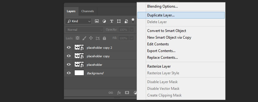 Creating duplicates of the layer
