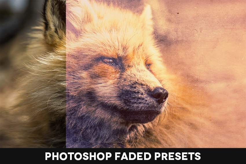 Photoshop faded preset promo image
