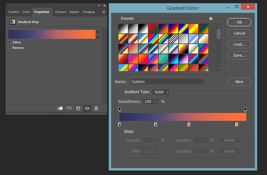 creating gradient map overlay