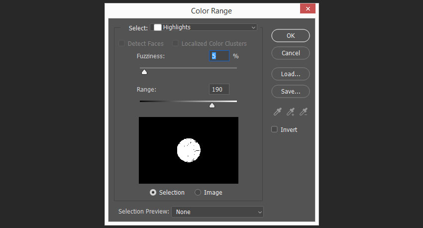 selecting and removing white color from the layer