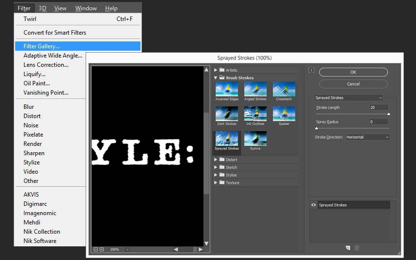 creating effects for the second group of text layers