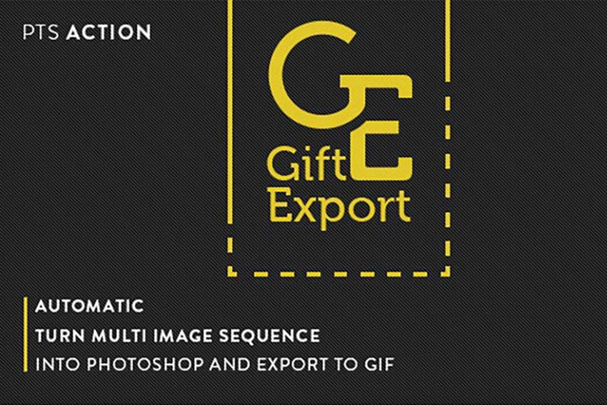 Gift Export Photoshop Action