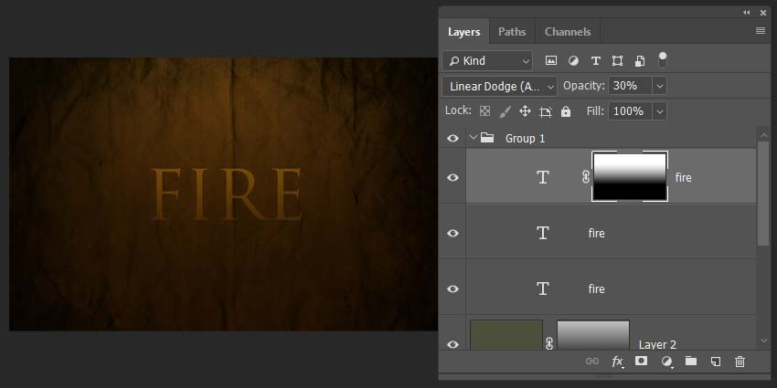 adding a fade effect with a gradient layer mask