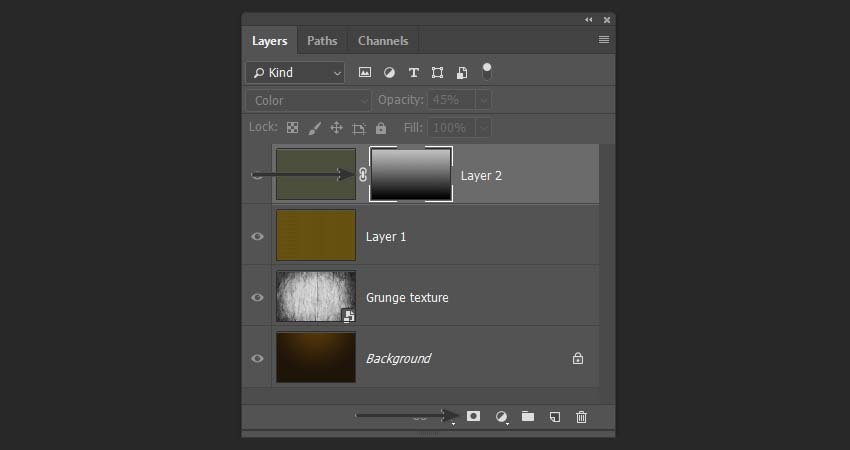 adding a gradient mask to the layer