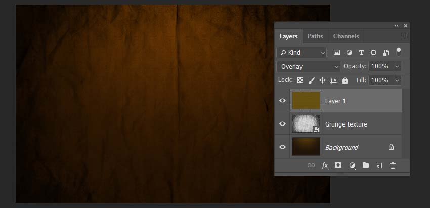 changing the blending mode of the overlay