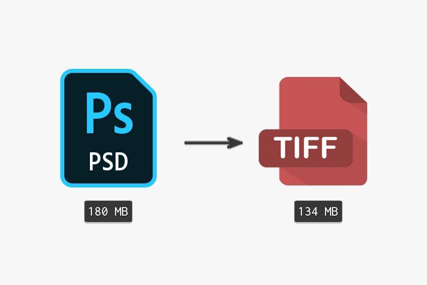 compare original PSD to a layred tiff file