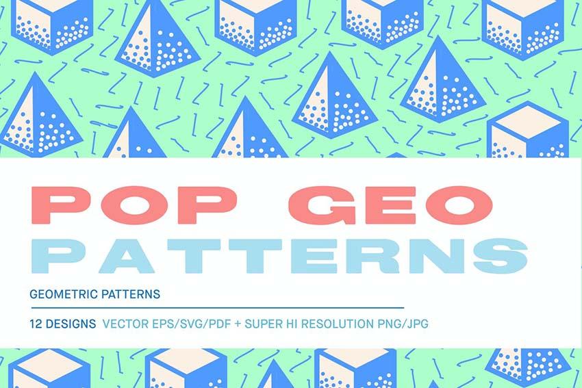 Pop 3D Geo Patterns