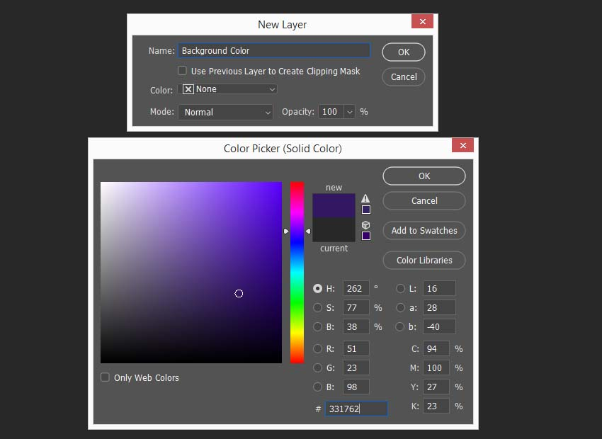 creating a color fill layer