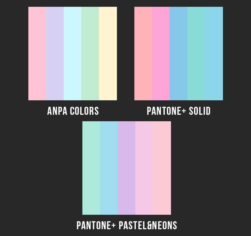 example of color schemes created with color libraries
