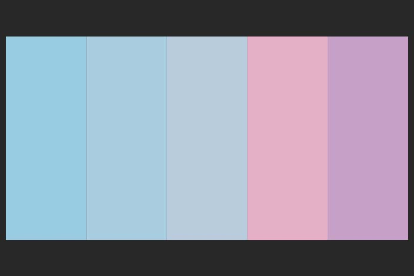 pastel color palette from the image