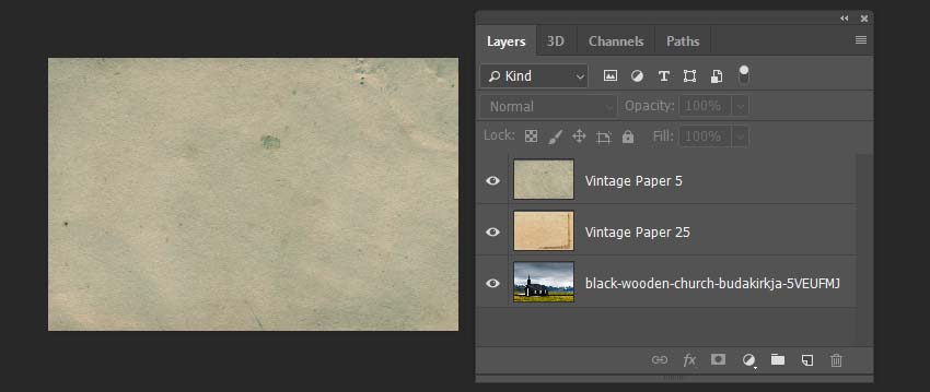 placing the textures above the photo
