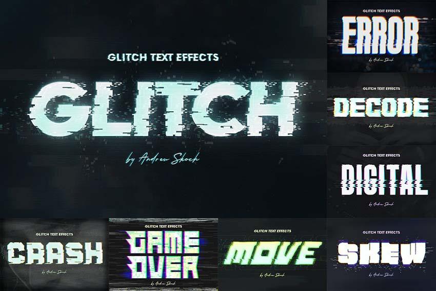 Glitch Text or Logo Effects