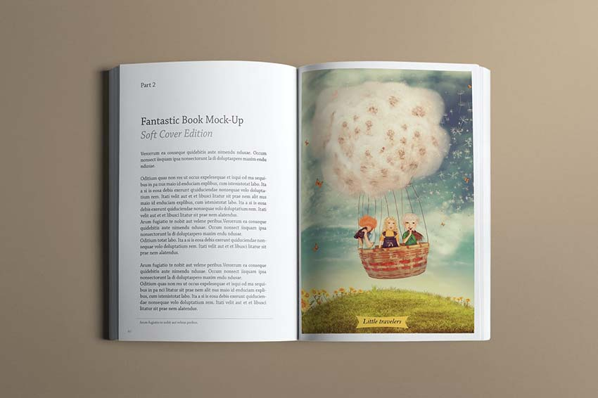 Soft cover book mock up