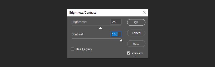 changing the brightess and contrast of the texture