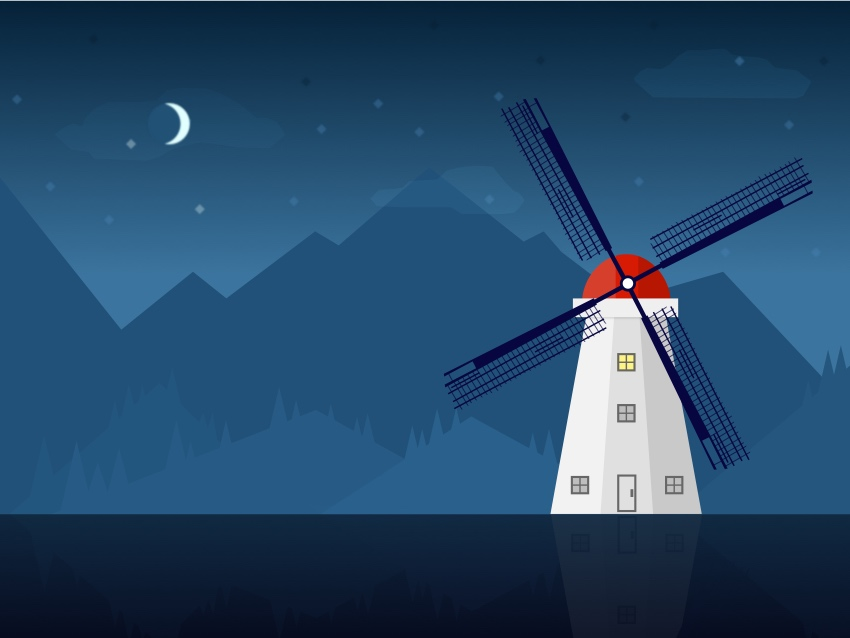 Finished Windmill Illustration
