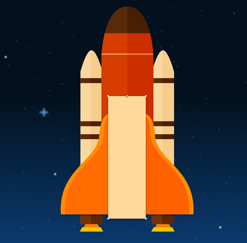 Space shuttle body edit - add middle point