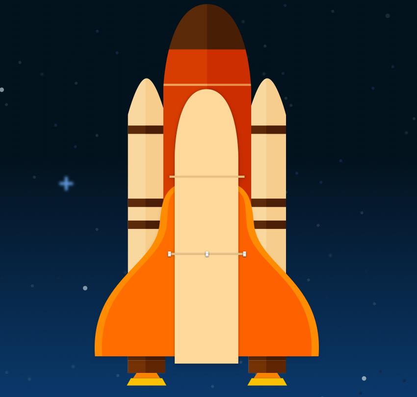 Space shuttle body - add details