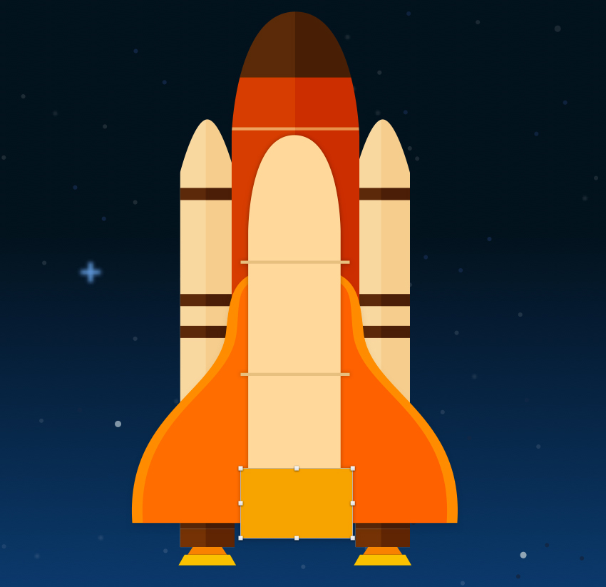 Space shuttle body - add detail at the bottom