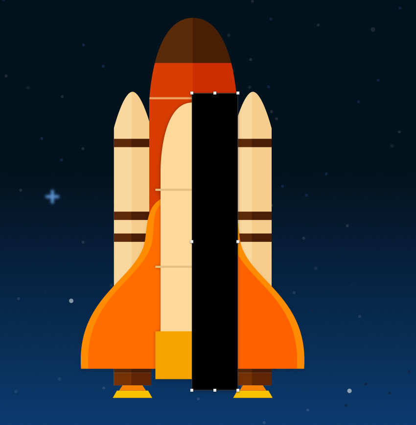 Space shuttle body - add shadow