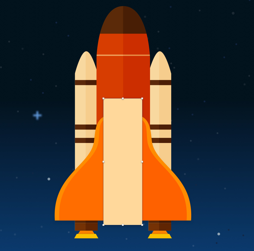 Create space shuttle body