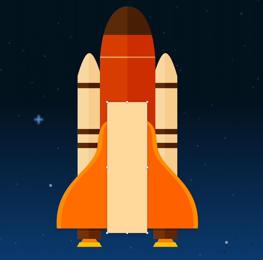 Create space shuttle body