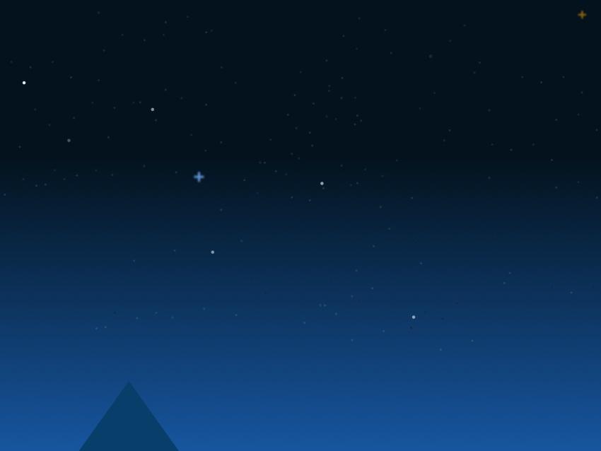 Mountain peak - position triangle