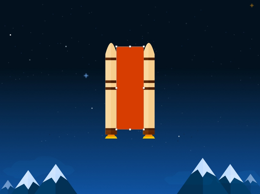 Create external tank shape