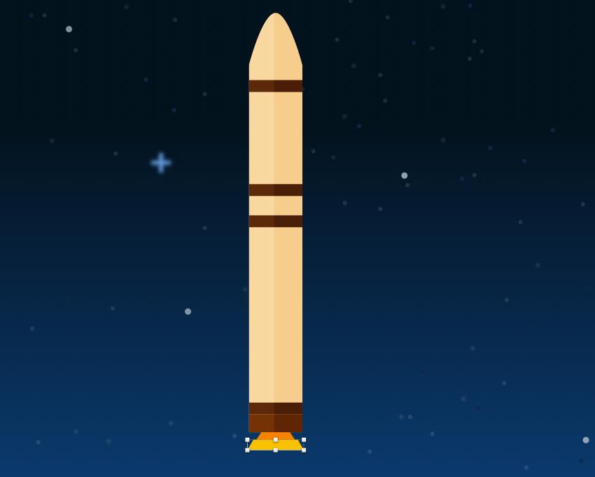 Rocket booster - engine bottom