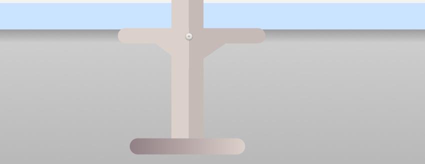 Bar stool leg rest adjust gradient