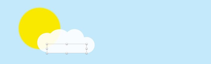 Create cloud - add rectangle
