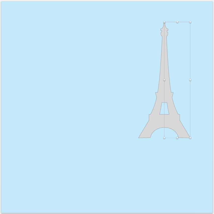 Eiffel Tower shapes ovelapping