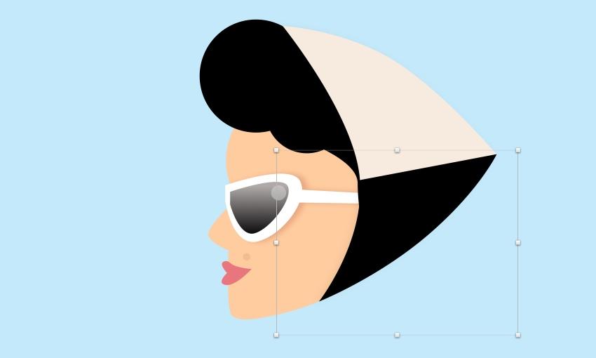 Girl - scarf black shape mask