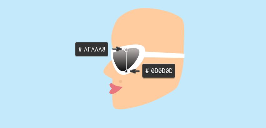Girl - sunglasses lens gradient