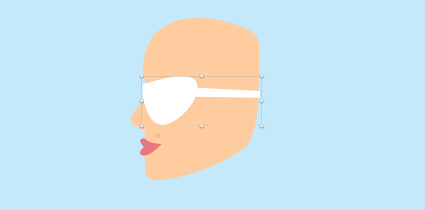 Girl - sunglasses shape