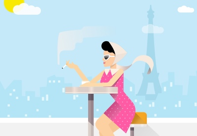 Paris lifestyle illustration preview