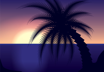 Preview for Create a Sunset Scene Using the Blend Tool in Illustrator