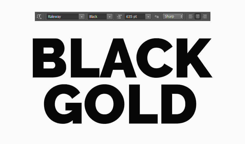How To Create A 3D Black And Gold Text Logo Mockup