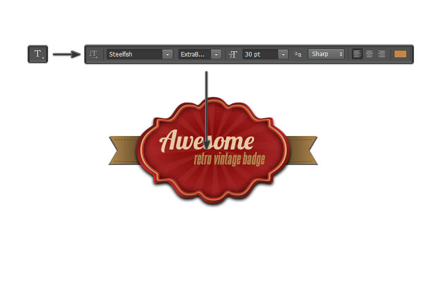 How to Create a Retro Vintage Badge in Adobe Photoshop