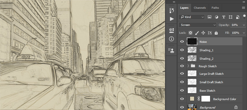How to Create a Sketch Effect Action in Adobe Photoshop