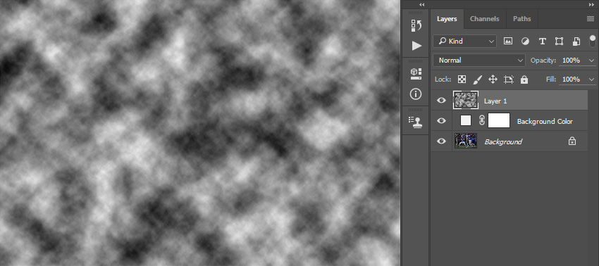 Adding filter render clouds to Layer 1