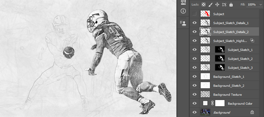 Changing blending mode and opacity of Subject_Sketch_Details_2 layer