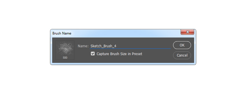 Defining a brush named Sketch_Brush_4