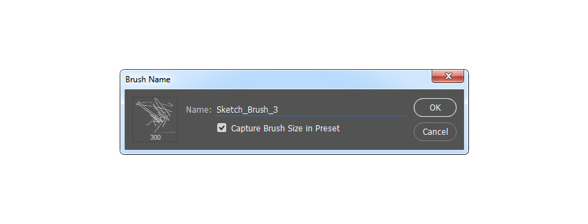 Defining the brush named Sketch_Brush_3