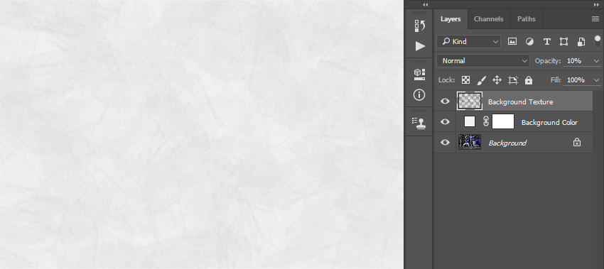 Deleting path Layer 1 and changing opacity of Background Texture layer
